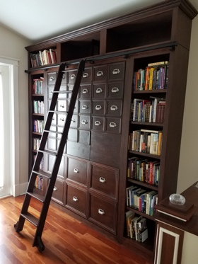 Custom Library Murphy Bed Unit