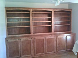 solid maple bookcase cabinets