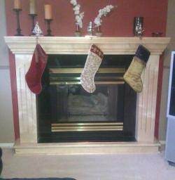 Solid maple fire place mantle (Custom Made)
